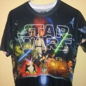 Mens Womens Small Star Wars All Over Print T Shirt